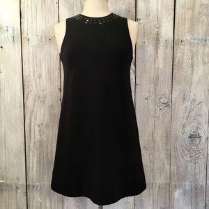ISAAC MIZRAHI Sleeveless Mod black mini dress SM